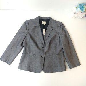 NWT Loft gray blazer size 12